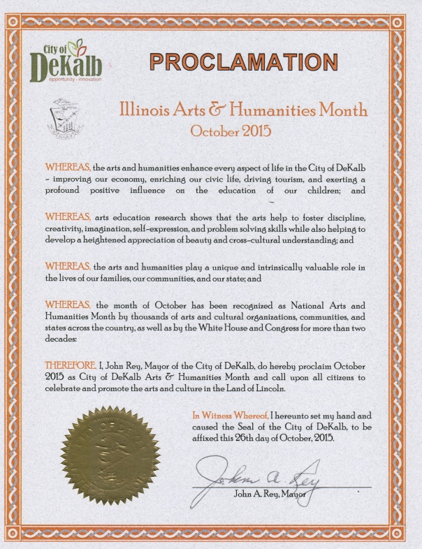 DeKalb Arts Proclamation